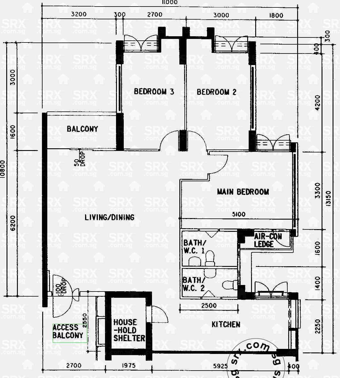 5 room executive hdb flat floor plan thefloors co for 5 room floor plan