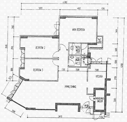 Rivervale crescent hdb details srx property for 1077 marinaside crescent floor plan