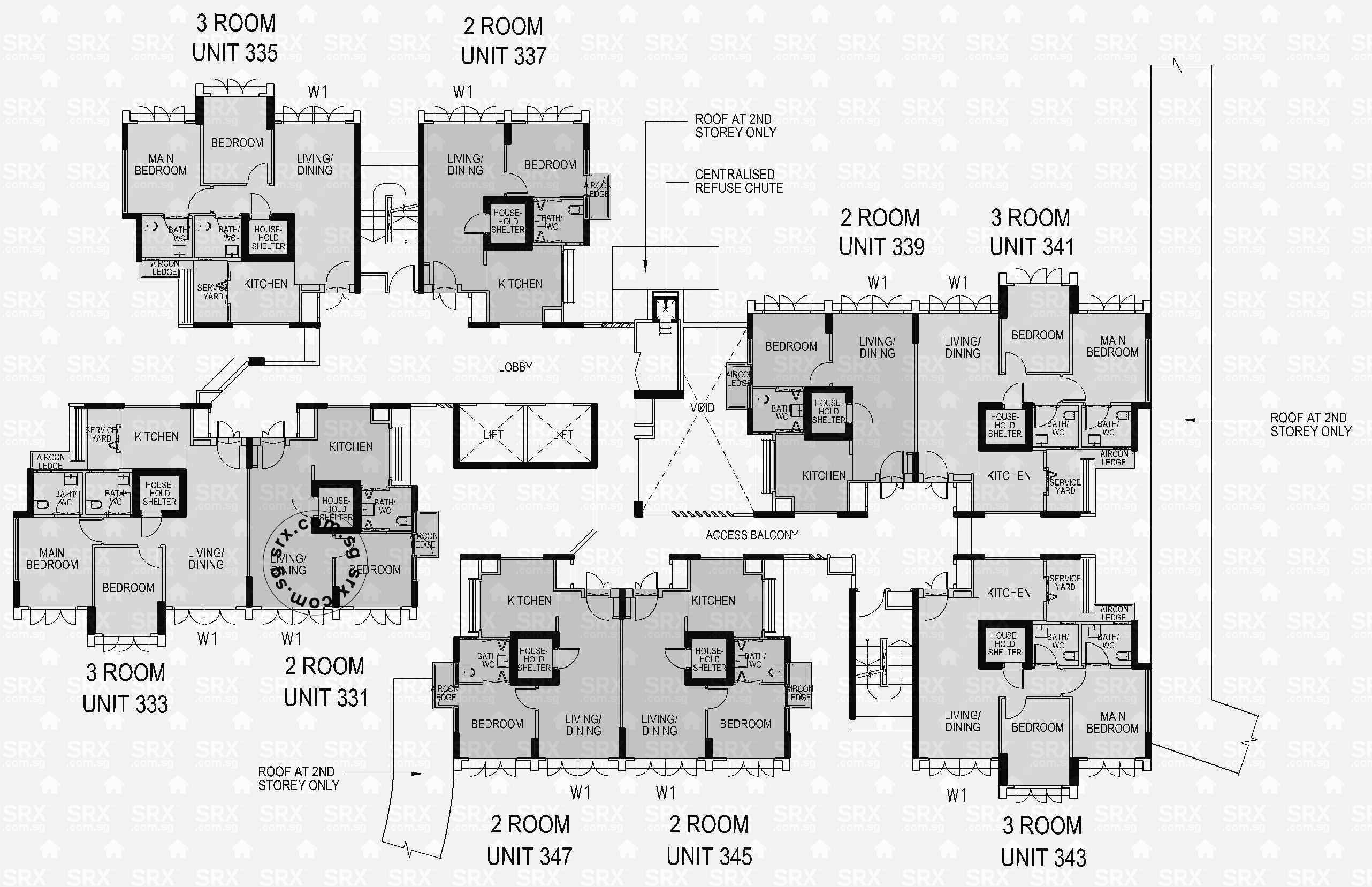 Floor plans for 180a rivervale crescent s 541180 hdb for 1077 marinaside crescent floor plan