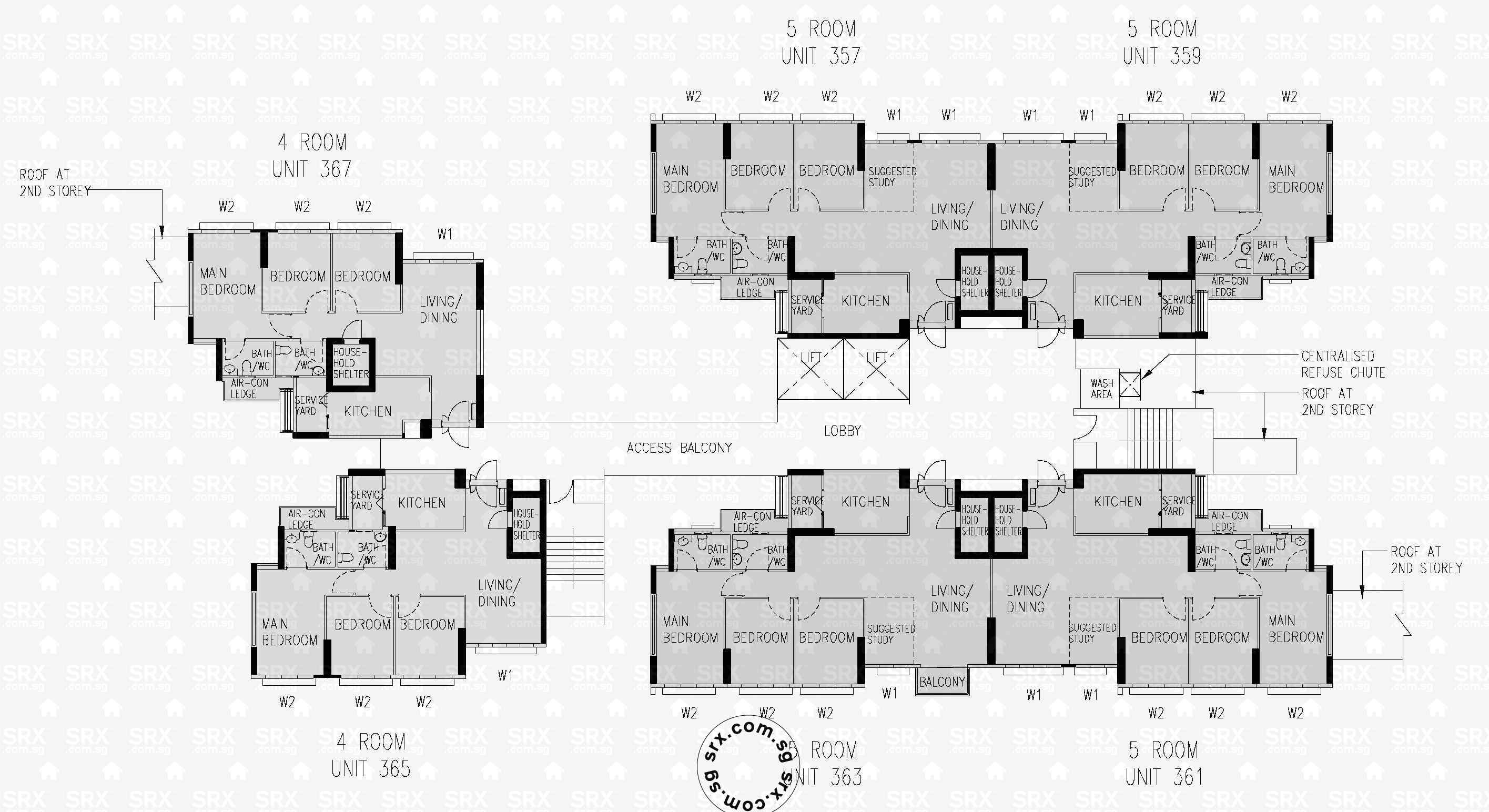 Floor plans for 288b compassvale crescent s 542288 hdb for 1077 marinaside crescent floor plan