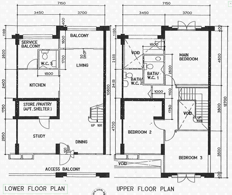 Floor plans for compassvale lane hdb details srx property for 16 brookers lane floor plans