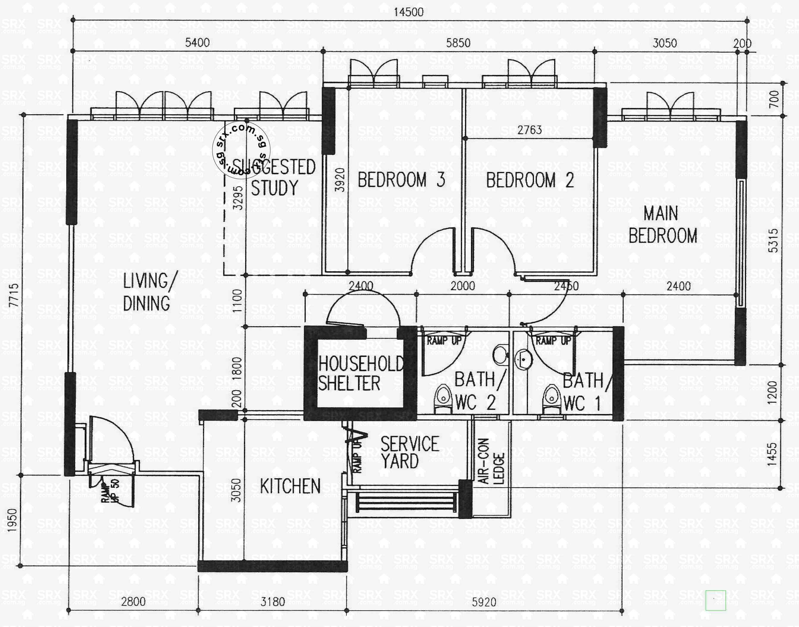 Floor plans for fernvale link hdb details srx property for 16 brookers lane floor plans