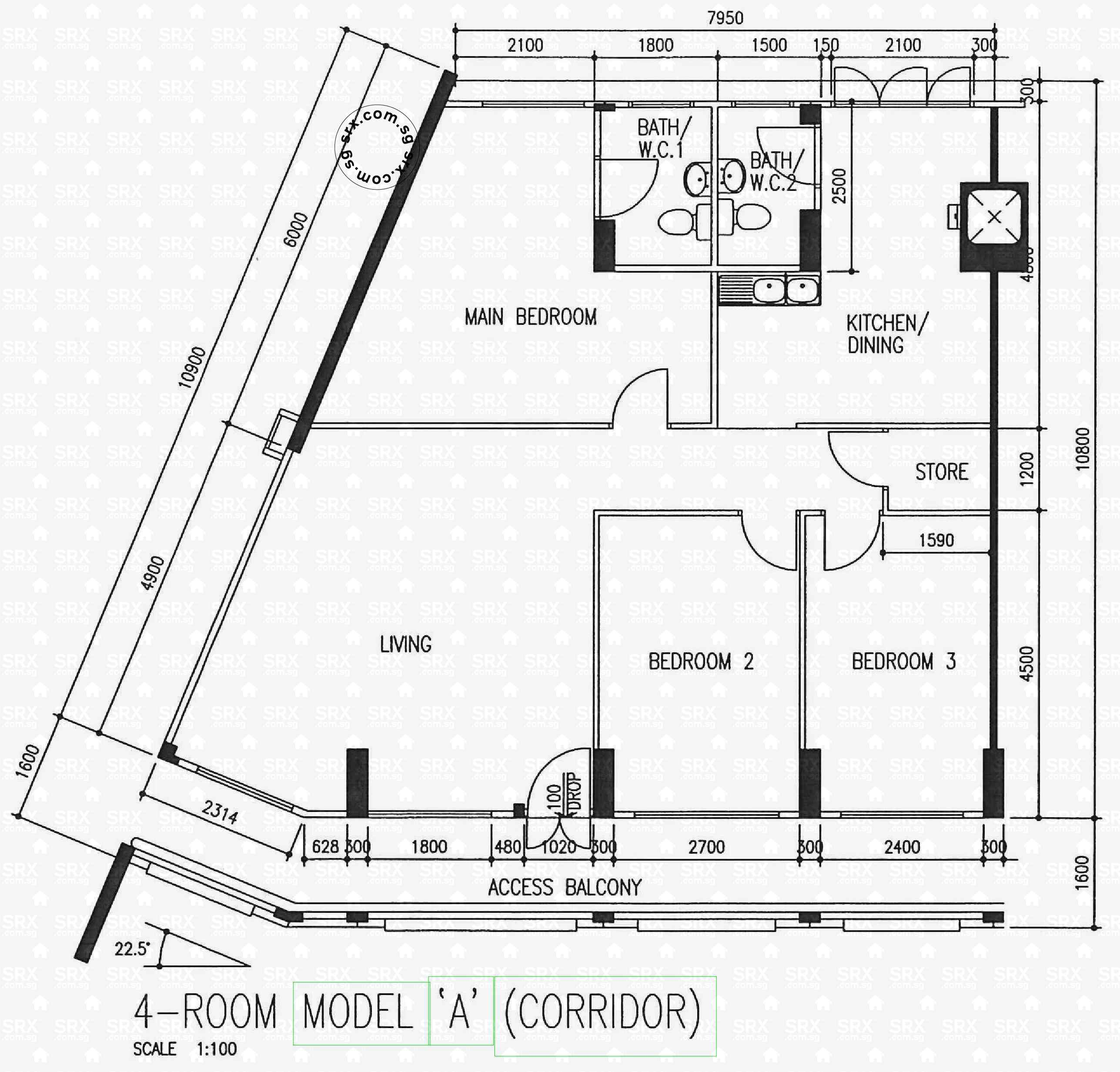 Floor plans for 521 serangoon north avenue 4 s 550521 hdb for 521 plan