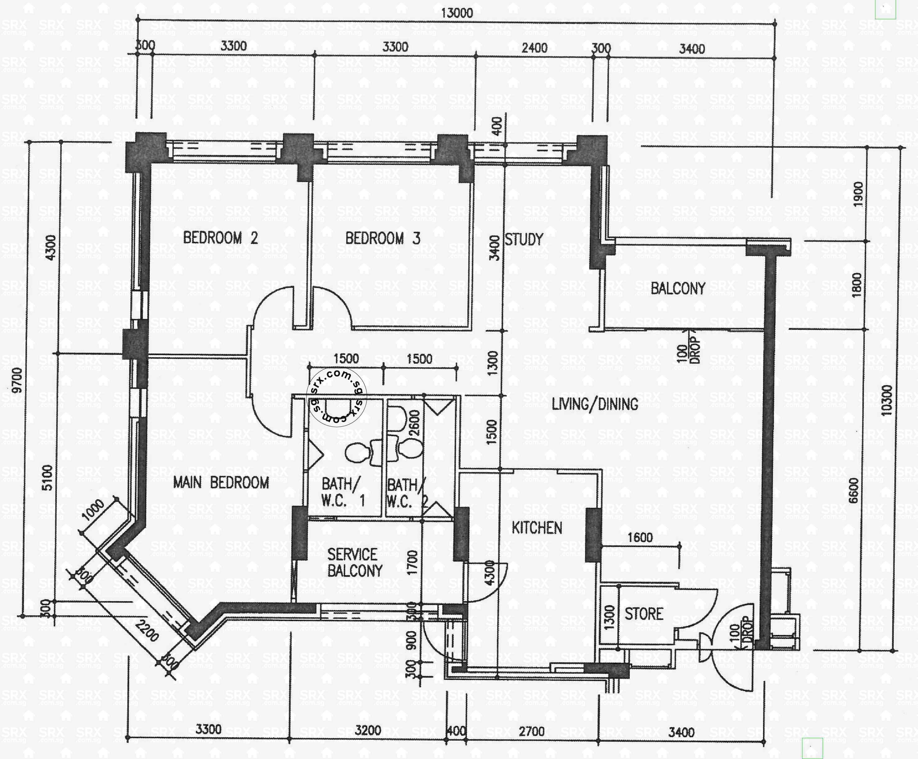 woodlands avenue  (s) hdb details  srx property - blk  woodlands avenue  (s) floor plan image