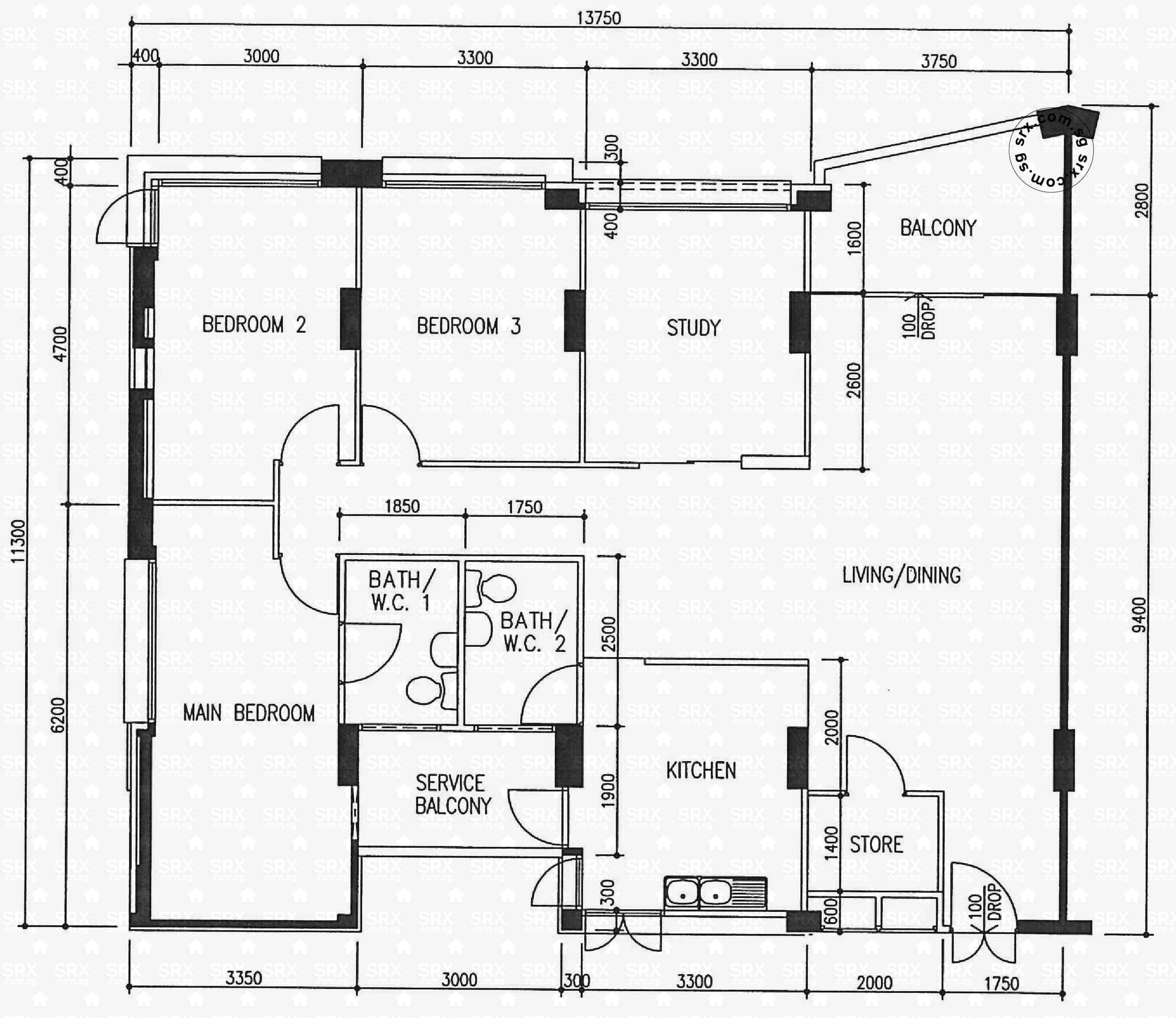 360 woodlands avenue 5 s 730360 hdb details srx property for Plan 360