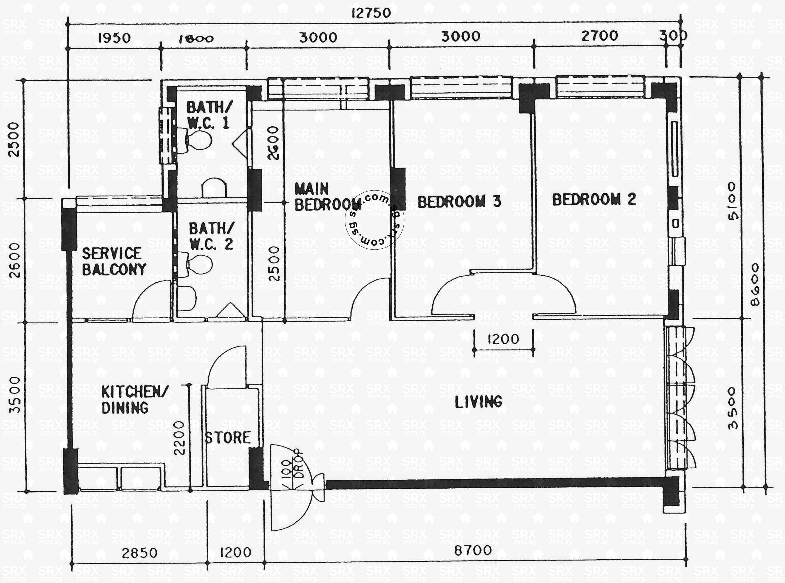 avenue  woodlands avenue  hdb details srx property floor plan  - floor plans for woodlands avenue hdb details srx property