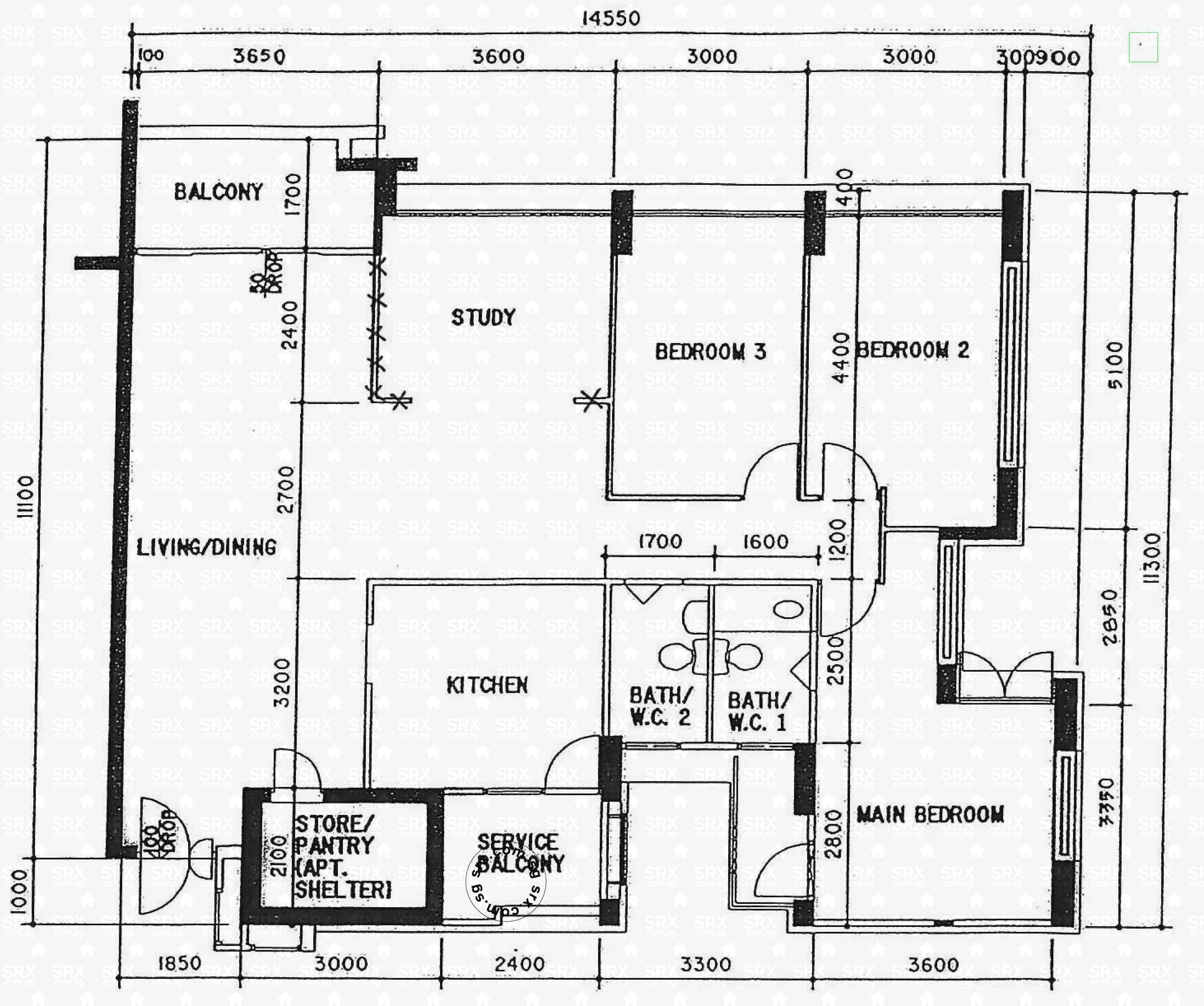 Floor plans for woodlands crescent hdb details srx property for 1077 marinaside crescent floor plan