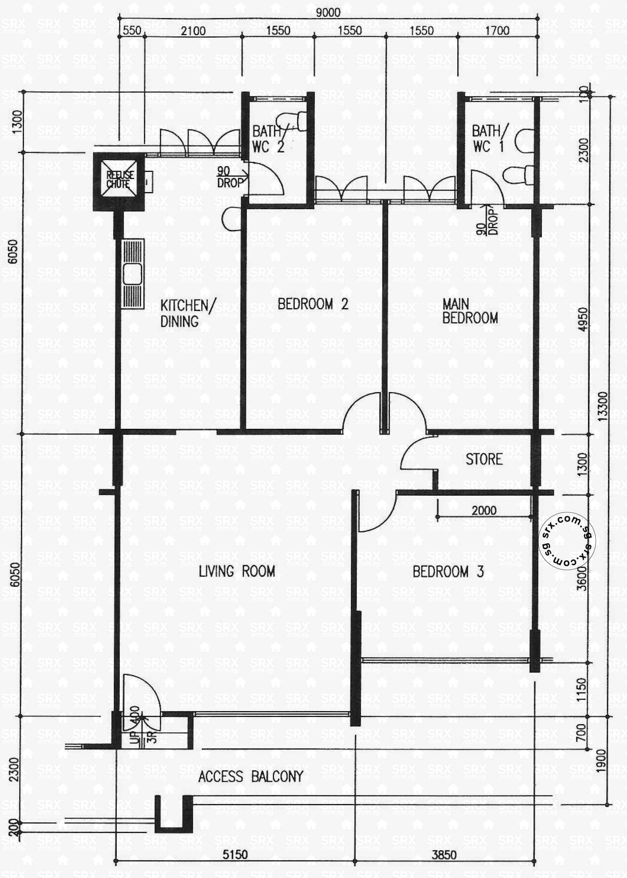 yishun avenue  hdb details  srx property - yishun avenue  floor plan image