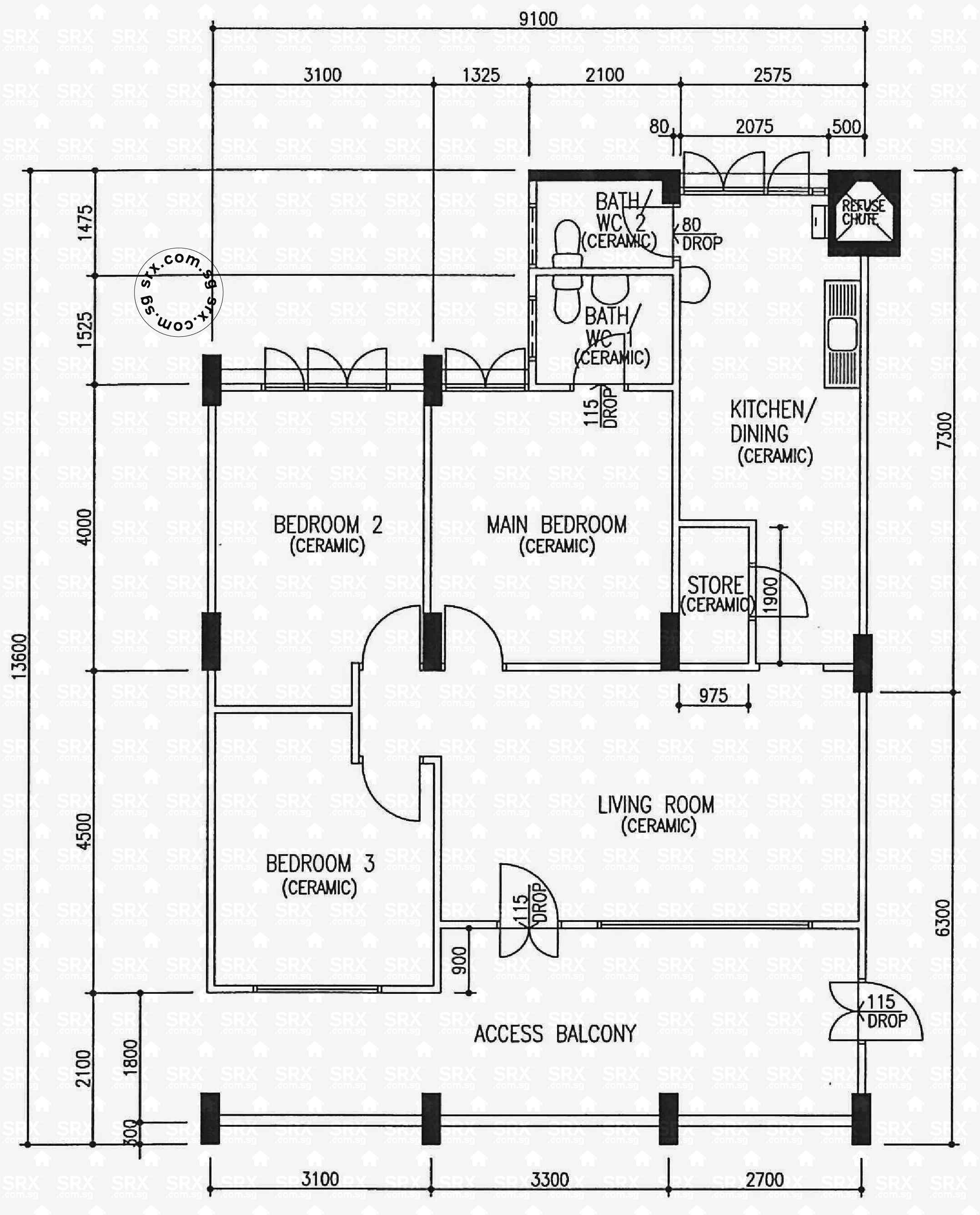 yishun avenue  (s) hdb details  srx property - blk   (typical)