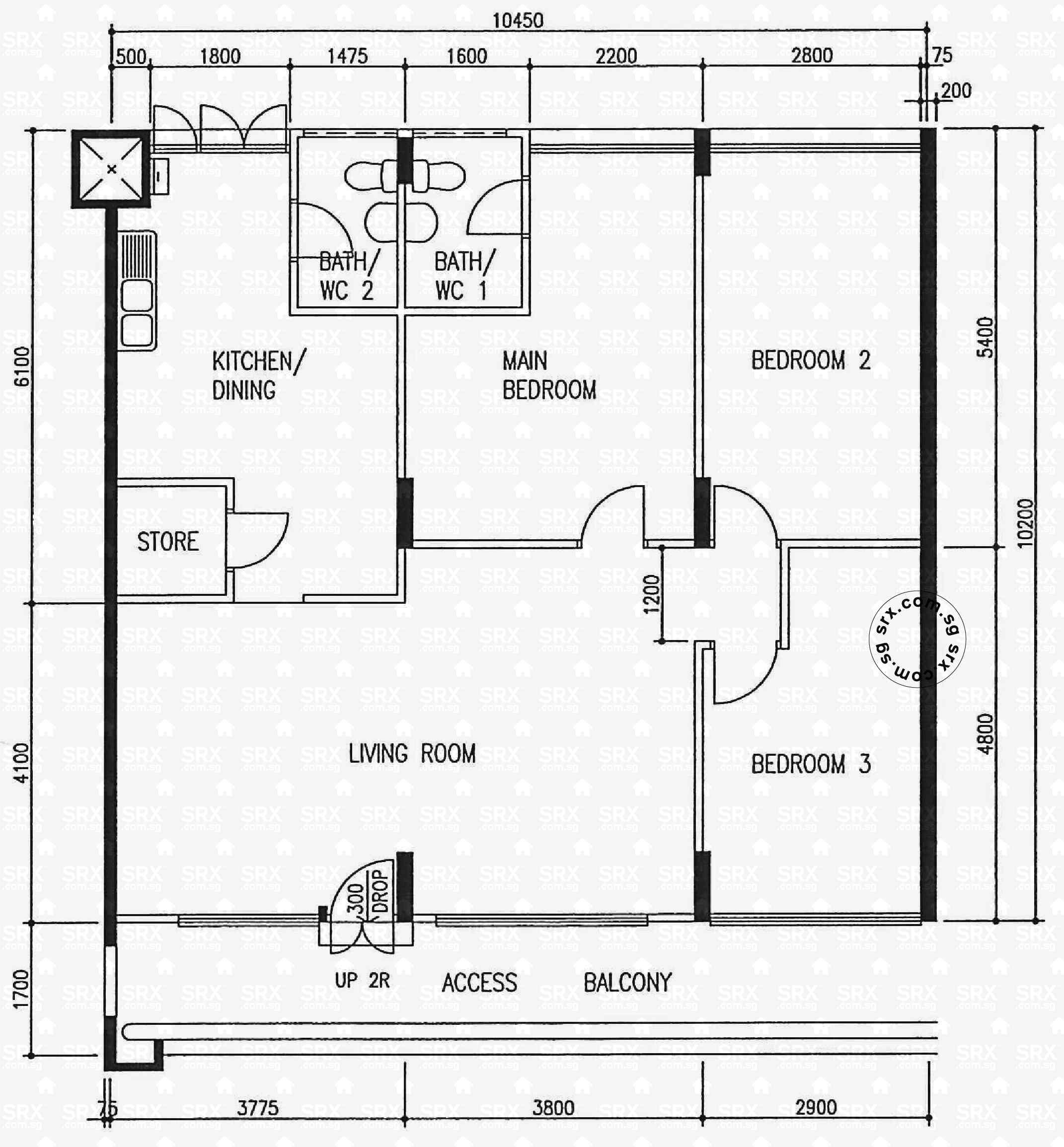 yishun avenue  (s) hdb details  srx property - blk  yishun avenue  (s) floor plan image