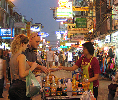 Khao San Road in the evening