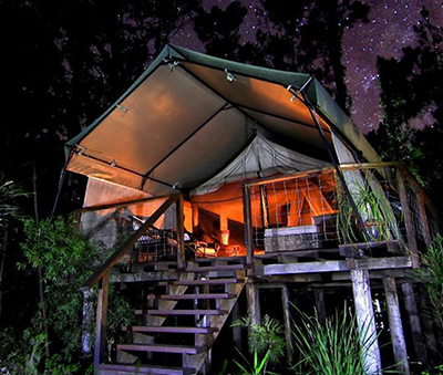 Paperbark Camp at Jervis Bay, NSW, Australia