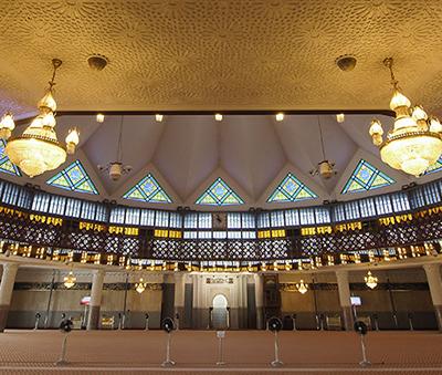 The main prayer hall of Masjid Negara