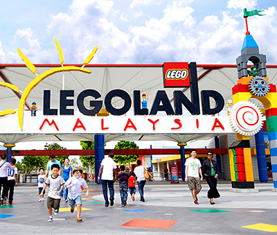 The entrance of Legoland Malaysia