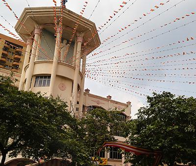 Maha Vihara Temple in Brickfields, Kuala Lumpur