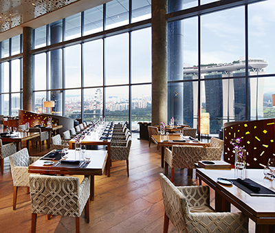 The interiors of Me@OUE