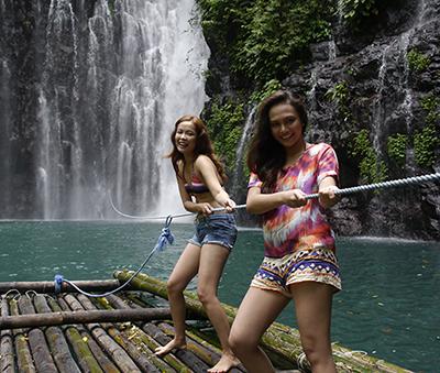 Having fun at Tinago Falls, Lanao del Norte