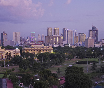 The Metro Manila skyline