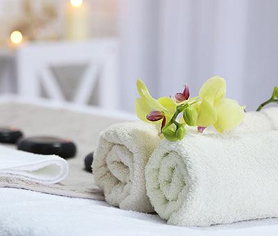 A hot stone massage at a spa