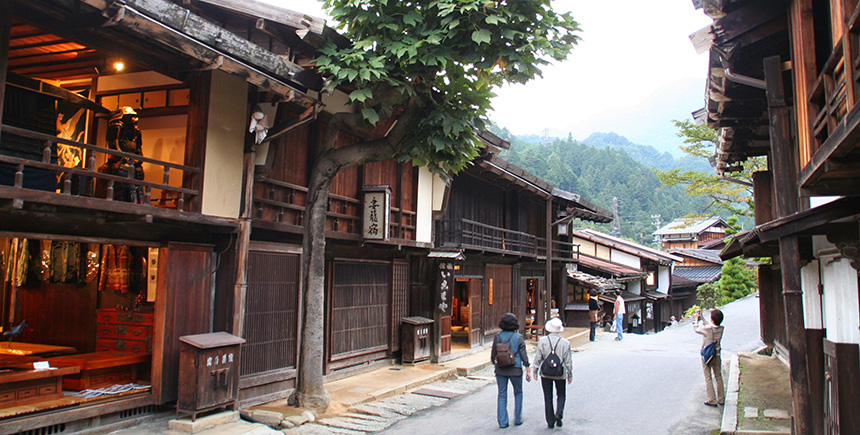 Part of the route along the Nakasendo Way