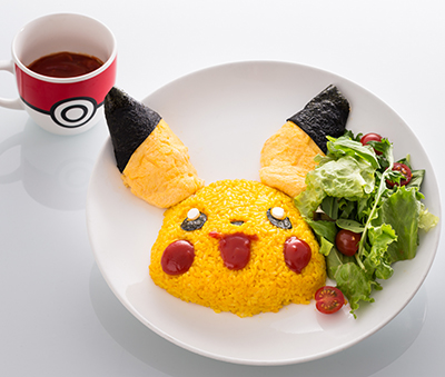 Pikachu Smiling Rice Omelette with Magma Sauce