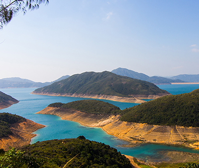 The view from High Island Reservoir East Dam