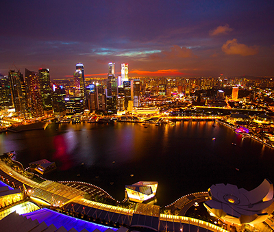 Marina Bay at night, Singapore