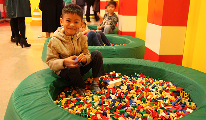 Ziv blissed out at the Legoland Discovery Center