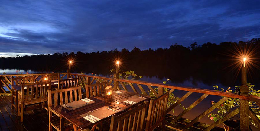 Melapi Restaurant, Sukau Rainforest Lodge, Sabah