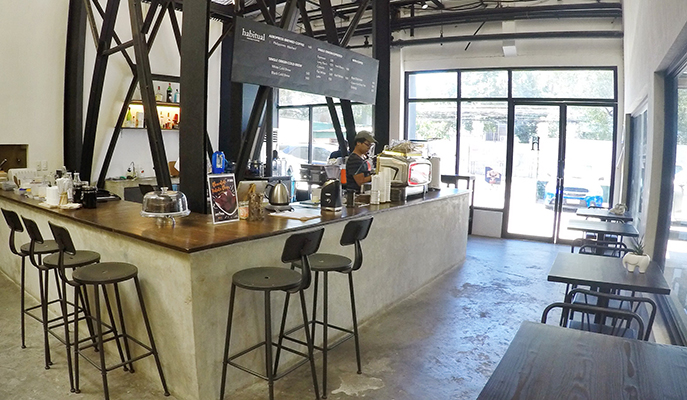 The interiors of Habitual Coffee