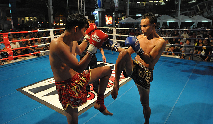 A Muay Thai fight