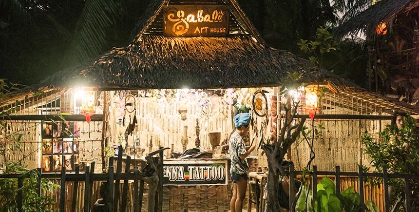 Sabala Art House, a local arts and crafts souvenir shop