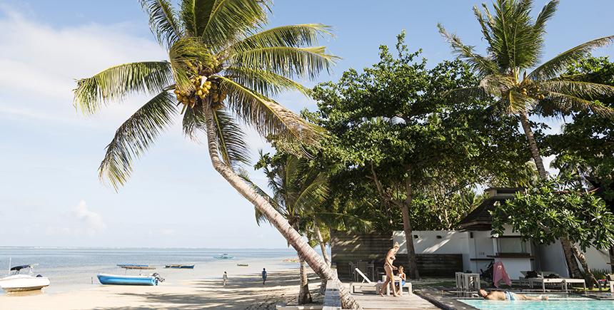 The sandy beachfront of Isla Cabana Resort