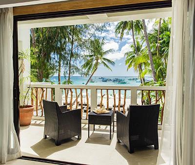 A balcony at Villa Caemilla, Boracay