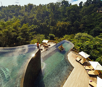The pool at Hanging Gardens of Bali