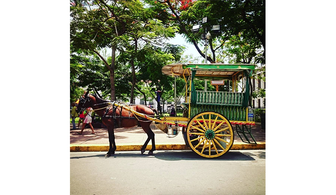 A kalesa at Intramuros (Photo: @carlmarieee)