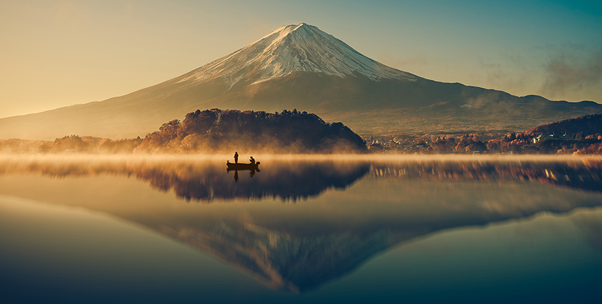 Mount Fuji at sunrise