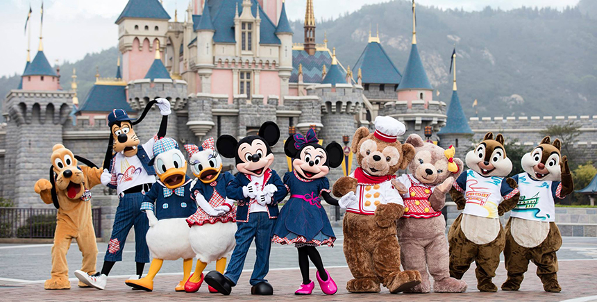 Mascots at Hong Kong Disneyland