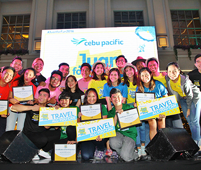 The young adventurers of the Cebu Pacific Juan for Fun Backpacker Challenge 2016