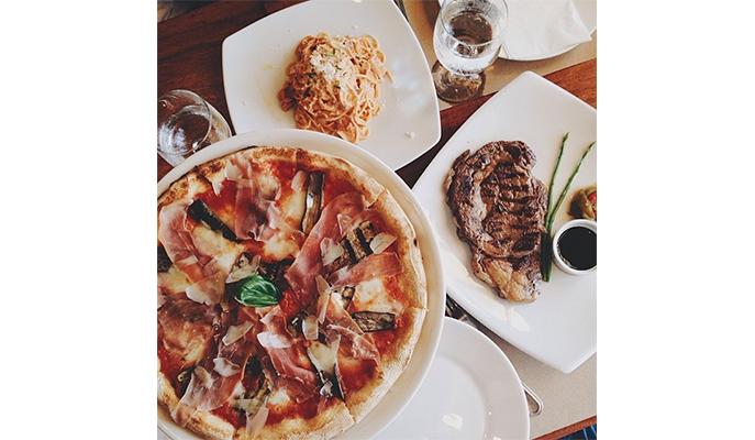 A delish spread at Aria Cucina Italiana (Photo: @aivanmagno)