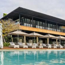 The infinity pool at Amorita Resort
