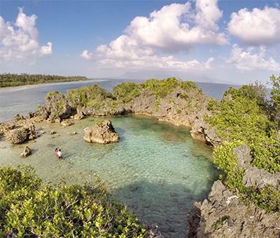 Paguriran Island's natural lagoon