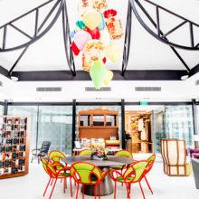 Hotel Indigo Singapore Katong's colorful pavilion