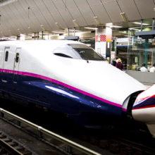 A shinkansen at Tokyo Station