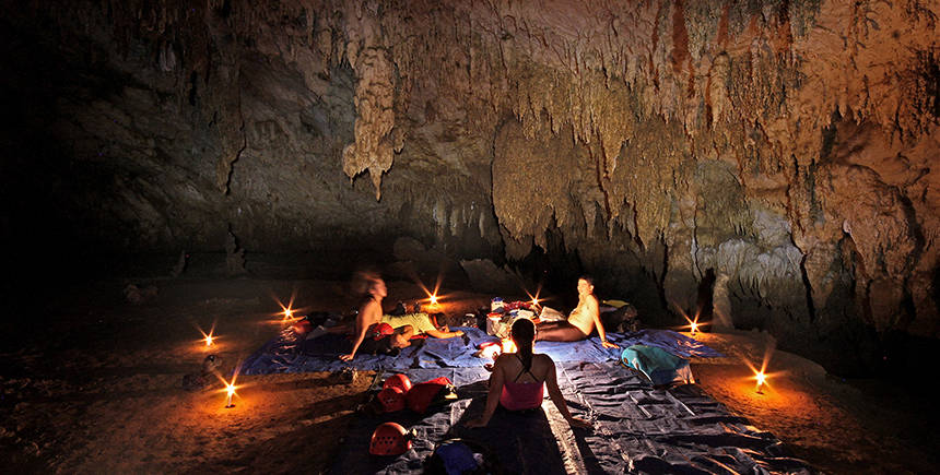 Camping in Gobingob Cave
