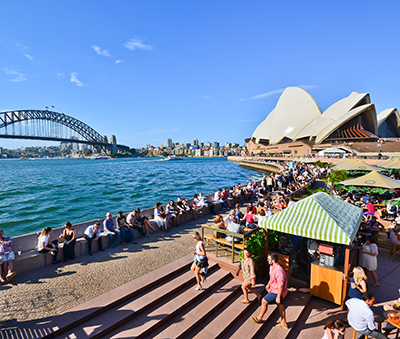 Hanging out at Circular Quay (Photo: Javen / Shutterstock.com)