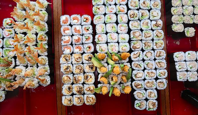 Sushi rolls from Sushi Hub