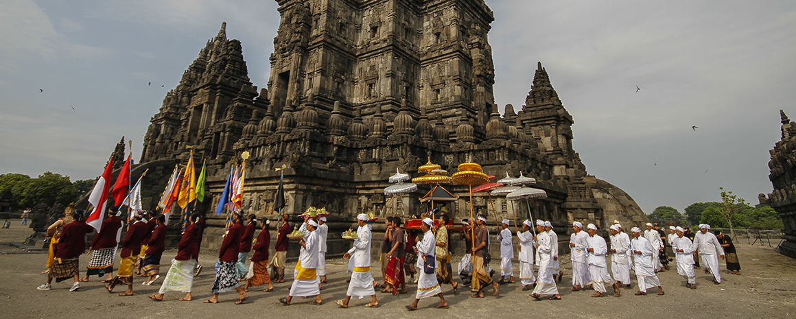 Prambanan, the ruins of a 9th-century Hindu temple, remains a focal point for Indonesia's Hindu minority today
