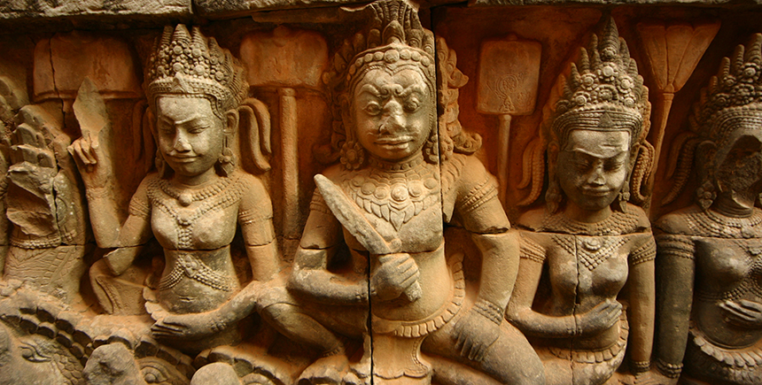 Dvarapala statues guard the doorways of temples all over South-East Asia