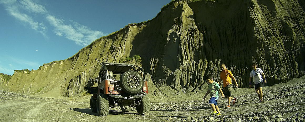 Embarking on the trail up Mount Pinatubo